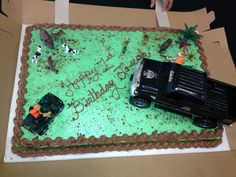 My sons 1st birthday cake:) wild boars* hunting theme<3