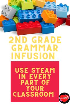 This product is Common Core aligned for standards L.1 and L.2 for 2nd grade. Grammar instruction can become boring for many young readers and writers. Turn it up a notch with a STEM/STEAM infusion! Students will work with partners, get out of their seat, create sketches with labels, and make deep connections with this product. It is a complete grammar instruction tool with over 40 pages of mini-lessons. Parts Of Speech Activities, 2nd Grade Activities, Writing Activities, 2nd Grade Grammar, Stem Steam, Instructional Strategies, A Classroom, Teaching Writing, Special Education
