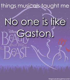 No one fights like gaston, douses lights like gaston...