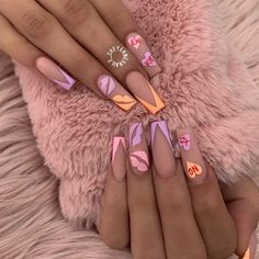 "NAILPRO Magazine on Instagram: ""🧡 xoxo 💜 from @cheyennesnails_"""