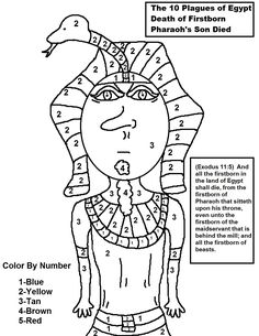 10 plagues The 10 Plagues of Egypt Coloring Pages