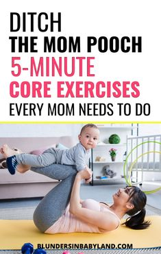 Tired of the dreaded mommy tummy? Here are 6 Postnatal Core Exercises to Rebuild Your Abs After Pregnancy. You can do them in your living room, the kitchen, and--best of all--when your baby is down for a nap! It's the perfect postpartum workout routine! Mommy Tummy Workout, Pooch Workout, Abs Workout Routines, Workout Regimen, Postpartum Workout Plan, Postnatal Workout, Postpartum Recovery, Postpartum Care, Post Pregnancy Belly