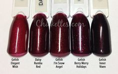 Gelish The Big Chill Collection Swatches & Color Comparisons – Chickettes Natural Nail Studio & Boutique - Gelish Nail Colours, Gel Polish Colors, Gelish Nails, Gel Nail Polish, Big Chill, Nail Blog, Gel Nail Designs, Nagel Gel, Winter Colors
