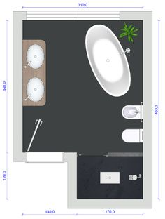 Bad mit freistehender Badewanne – gut geplant Bath with freestanding bath – well planned Family Bathroom, Modern Bathroom, Bathroom Interior Design, How To Plan, Mirror, Freestanding Bath, Home Decor, Toilet Room, Designs