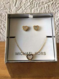 Set De Aretes Y Collar Michael Kors. - $ 1,450.00 en Mercado Libre