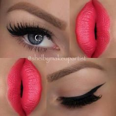 it would look better if the lips were softer and there was some eyeshadow Lipstick Shades, Lipstick Colors, Lip Colors, Beauty And The Beat, Beauty Make Up, Kiss Makeup, Hair Makeup, Makeup Tips, Crayon Lipstick