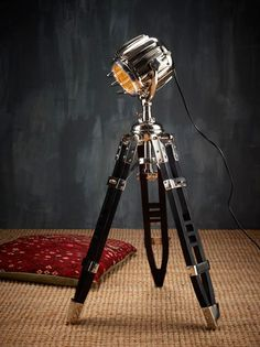 Hemmingway shutter lamp - so awesome Tripod Lamp, Shutters, Light Up, Canning, Floor Lamps, Architecture, House Ideas, Inspiration, Inspired