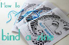 How to Bind a Zine: A Tutorial via Callie Garp