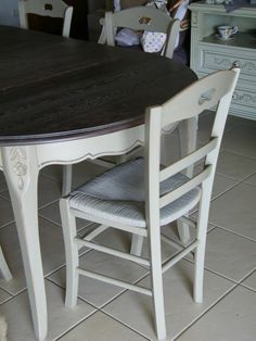 TUTO RELOOKING CHAISE RUSTIQUE