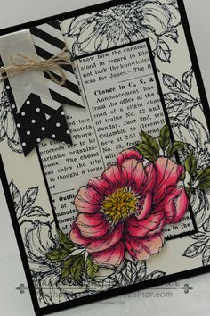 Bloom with Hope & Typeset Card - Stampin' Up! by hvanlooy - Cards and Paper Crafts at Splitcoaststampers - Bloom with Hope & Typeset Card – Stampin' Up! by hvanlooy – Cards and Paper Crafts at Splitco - Tarjetas Stampin Up, Stampin Up Karten, Cool Cards, Diy Cards, Envelopes, Stamping Up Cards, Pretty Cards, Paper Cards, Creative Cards