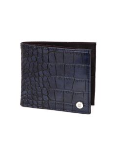 A timeless faux crocodile skin textured Baggit wallet.