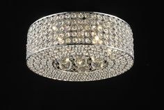 "7106 Lighting Originals Jewel Contempo Collection 10"" wide Crystal Ceiling Light with Suspended Crystal Balls"