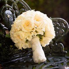 White Garden Rose Bridal Bouquet