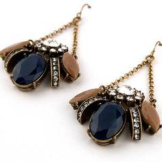 Vintage Bee Chandelier Earrings