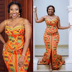 Super stylish Long Kitenge-Kente Fashion styles for 2020 Latest African Fashion Dresses, African Print Dresses, African Print Fashion, African Dress, African Wedding Attire, African Attire, African Wear Styles For Men, African Traditional Wedding Dress, Kente Dress