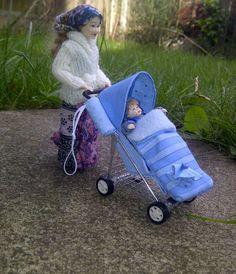 Teeny Tiny Things: Prams Prams Prams - 1/12th scale miniature dolls house prams Pram Stroller, Baby Strollers, Mini Things, Prams, Dollhouse Furniture, Miniature Dolls, Dollhouse Miniatures, Children, Kids