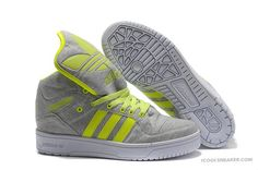 Adidas Jeremy Scott Big Tongue Gray Green Summer Hot Shoes
