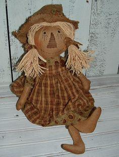 Scarecrow girl rag doll