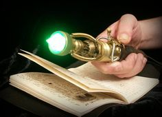 Sonic screwdriver inspired steampunk device with lighth and sound effects.