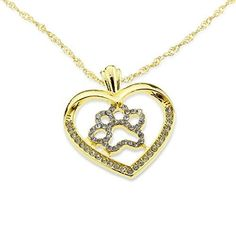Iced Out Dog Paw Pet Lover Necklace - Gold Plating - Embolden Jewelry - 1