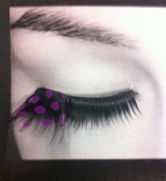 Yup, these are awesome! Mardi Gras Valentines Day Purple Polka Dot Feather by CatsMeow1940, $12.00