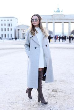 31 Winter Date-Night Outfit Ideas: Over-the-knee boots dress up any outfit | /stylecaster/