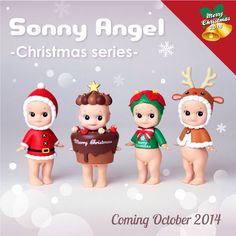 DREAMS Minifigure Sonny Angel Xmas Christmas 2014 Series Special Edition Collectible Figure Full Set (No Secret Item) Christmas 2014, Christmas Angels, Merry Christmas, Xmas, Poinsettia, Christmas Decorations, Christmas Ornaments, Holiday Decor, Doll Toys