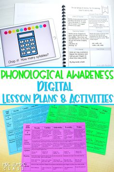 Daily and weekly lesson plans to teach phonological awareness in kindergarten and 1st grade. Plus, digital slides make your daily instruction easy!
