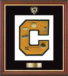 8b3ef8839c0 Varsity Letter Display. High School FootballSchool SportsHigh School  GraduationGraduation ...