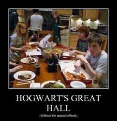 THIS IS AMAZING!!JUST A WORK OF ART I MEAN YASSSS WHY COULD THEY NOT HAVE THE GREAT HALL WITHOUT SPECIAL EFFECTS