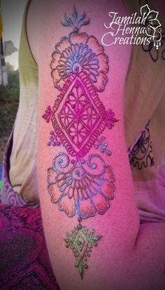 Moroccan flower fusion henna www.jamilahhennacreations.com