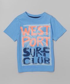 Loving this Blue 'Surf Club' Tee - Toddler & Boys on #zulily! #zulilyfinds