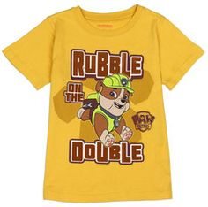 Paw Patrol Rubble On The Double  Boy//Girls T-Shirt Ideal Gift//Present