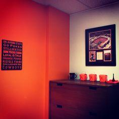 Office decorations #okstate