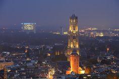 Donker Utrecht - Binnenstad met Domtoren, Domkerk en Buurkerk