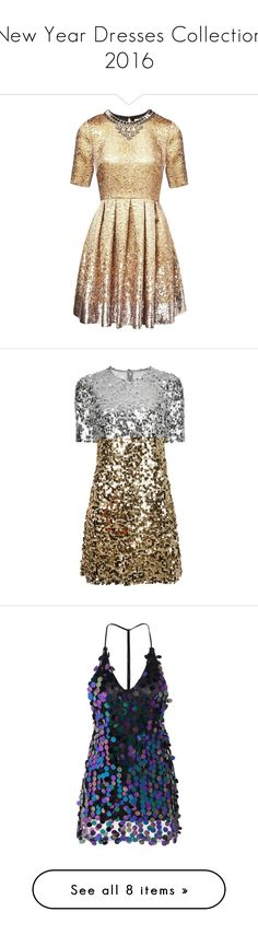 """""""New Year Dresses Collection 2016"""" by gabriela-silva-15 ❤ liked on Polyvore featuring dresses, gold, short, beige cocktail dress, sequin cocktail dresses, short cocktail dresses, gold cocktail dress, short dresses, grey and party dresses"""
