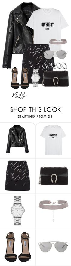 """#755"" by blendingtwostyles ❤ liked on Polyvore featuring Givenchy, Thierry Mugler, Gucci, Marc by Marc Jacobs, Steve Madden, Christian Dior and ASOS"