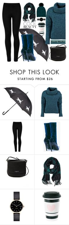 """""""Cozy Sweater"""" by xsafnrx ❤ liked on Polyvore featuring Lowie, Wolford, Balenciaga, Lancaster, Banana Republic, Myku and Accessorize"""