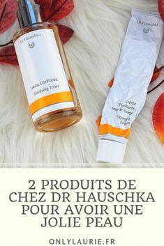 2 produits bio de chez Dr Hauschka pour avoir une jolie peau. La crème purifiante et la lotion clarifiante, idéales pour les peaux mixtes et sensibles.