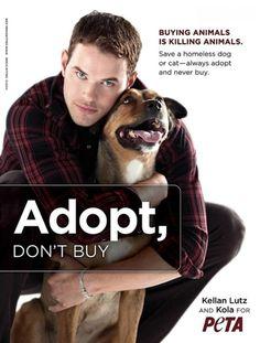 Campanha do PETA.