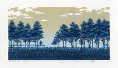 Hajime Namiki Japanese Woodblock Prints Earth 5