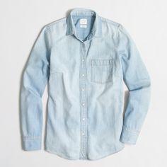 Factory pocket chambray shirt : Shirts & Tops | J.Crew Factory