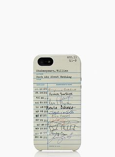 The @Kat Ellis spade new york library card case — Do iPhone cases get any better?!