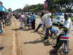 Bike taxis in Kisumu, Kenya by SkyscraperCity
