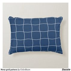 Navy grid pattern accent pillow Navy Blue Bedrooms, Blue Living Room Decor, Blue Home Decor, Home Decor Bedroom, Navy Blue Cushions, Navy Blue Throw Pillows, Soft Pillows, Accent Pillows, Living Room Cushions