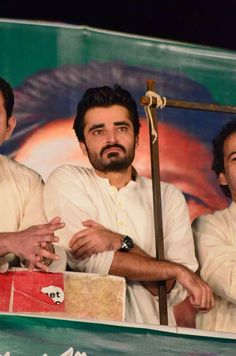 Hamza Ali Abbasi at Azaadi March On Container