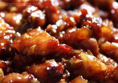Thịt kho ruốc sả - Hoi An Food Tour : pork belly, lemongrass, shrimp paste, sugar Vietnamese Pork, Vietnamese Cuisine, Vietnamese Recipes, Pork Recipes, Asian Recipes, Chinese Recipes, Shrimp Paste, Pork Stew, Pork Belly