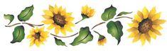 Sunflower Border | Designer Stencils
