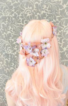 Pink flower crown<3