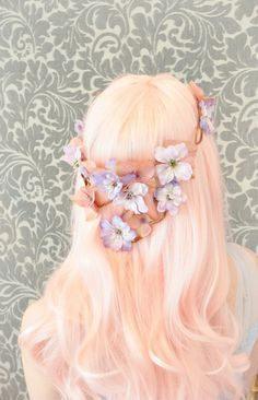 Pink flower crown<3